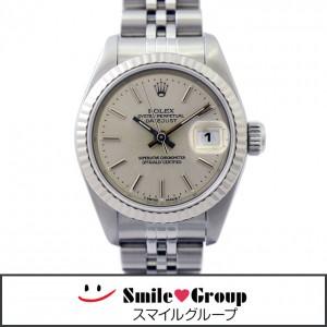 4 ロレックス 腕時計 デイトジャスト SS K18WG 69174 レディース シルバー  (1)