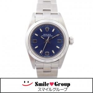 2 ロレックス ROLEX オイスターパーペチュアル SS 76080 F番 腕時計 レディース 女性 青文字盤 ブルー  (1)