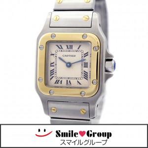 2 カルティエ 腕時計 サントスガルベSM SS K18 レディース W20012C4 人気 (1)